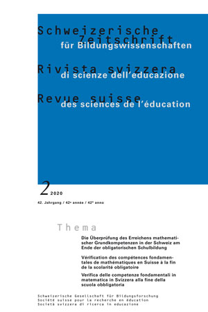 View Vol. 42 No. 2 (2020): Verification of the Attainment of Basic Competencies in Switzerland at the end of compulsory school