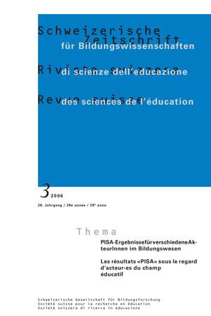 View Vol. 28 No. 3 (2006): PISA-Ergebnisse für verschiedene AkteurInnen im Bildungswesen: Wege zu einem hohen Leistungsniveau bei gleichzeitig geringer Ungleichheit der Bildungschancen