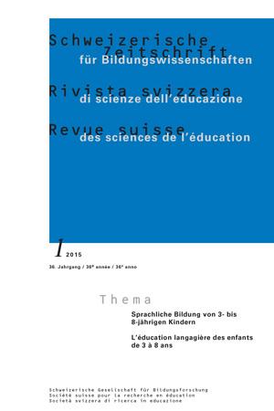 View Vol. 37 No. 1 (2015): Sprachliche Bildung von 3- bis 8-jährigen Kindern