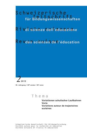 View Vol. 35 No. 2 (2013): VARIA: Variationen schulischer Laufbahnen