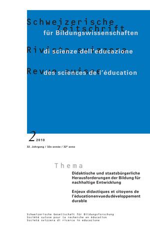 View Vol. 32 No. 2 (2010): Didaktische und staatsbürgerliche Herausforderungen der Bildung für nachhaltige Entwicklung