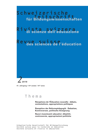 View Vol. 41 No. 2 (2019): New Education Receptions: Debates, Challenges, Political Appropriations