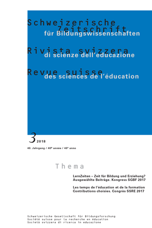 View Vol. 40 No. 3 (2018): Time in education and training. SSRE Congress 2017