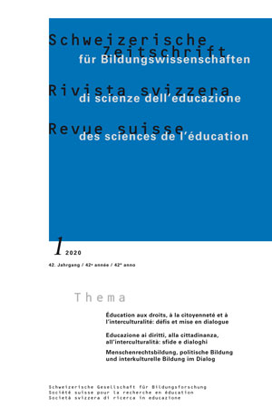View Vol. 42 No. 1 (2020): Education for rights, citizenship and interculturalism: setting up a dialogue